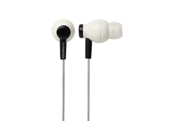 ZUMREED ZHP-100 White Canal Type Earphones