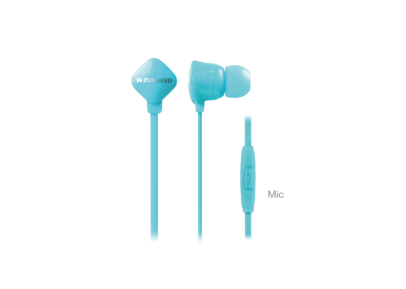 ZUMREED ZHP-120S Light Blue Canal Type Earphones