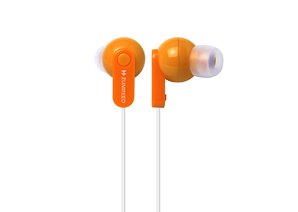 ZUMREED ZHP-017 Orange Canal Type Earphones