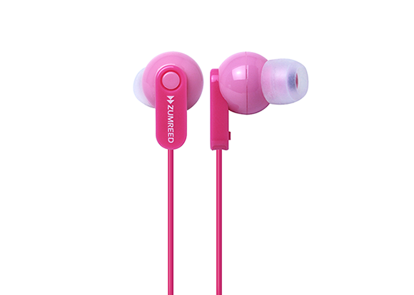 ZUMREED ZHP-017 Pink Canal Type Earphones