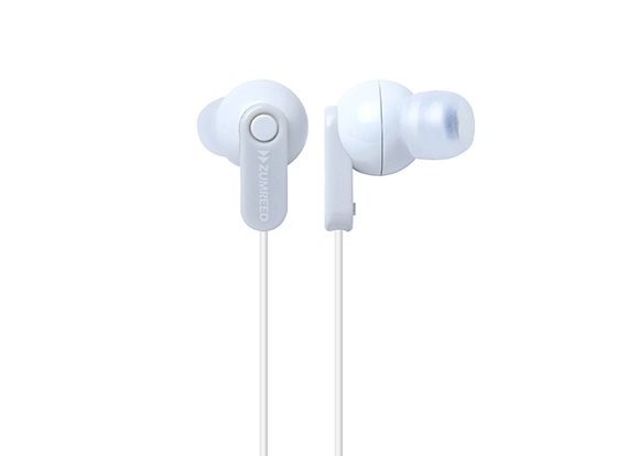 ZUMREED ZHP-017 WhiteCanal Type Earphones