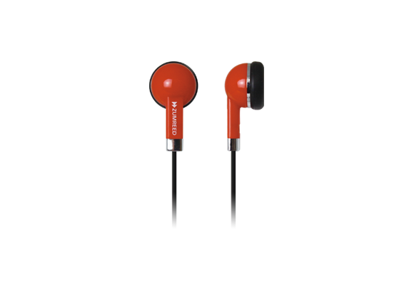 ZUMREED ZHP-019 Inner Ear Type Earphones Red