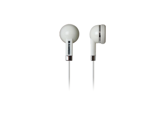 ZUMREED ZHP-019  Inner Ear Type Earphones White