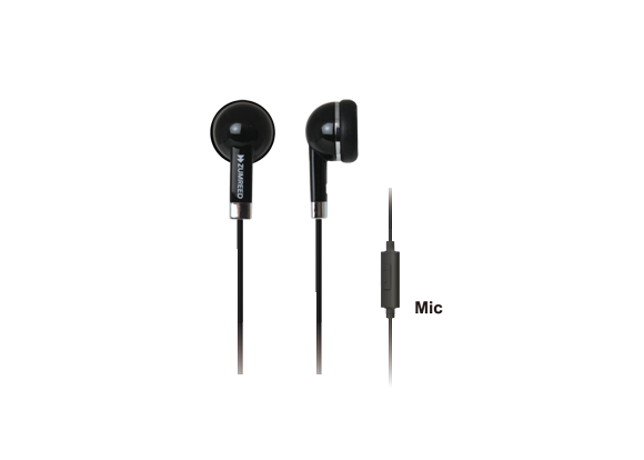 ZHP019S Cosmo ZHP-019S Inner Ear Type Earphone BLACK