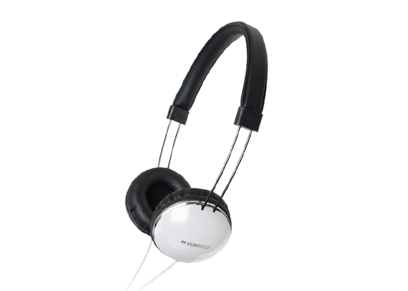 ZUMREED ZHP-300 Portable Stereo Headphones White