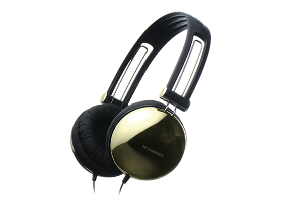 ZUMREED ZHP-400 Portable Stereo Headphones Gold