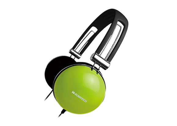 ZUMREED ZHP-400 Portable Stereo Headphones Lime Yellow