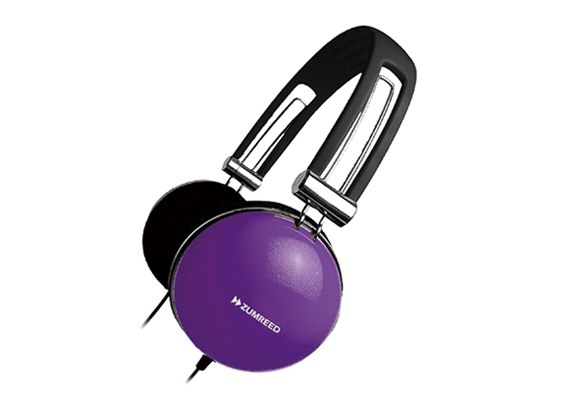 ZUMREED ZHP-400 Portable Stereo Headphones Violet